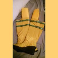 X-Men: Rogue boots by TheSpazOutLoud