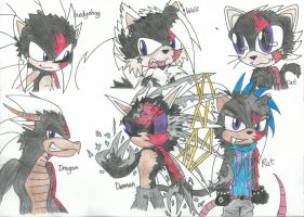 Zeke got a SIX forms by xX-CathTheHedgie-Xx