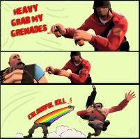 Team Fortress grab my grenades by Smegman9