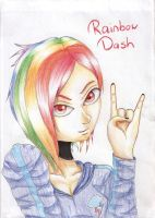 Rainbow Dash Humanized by vocaLily123