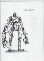 Minecraft Sketch: Iron Golem by CriticalRobotBoy