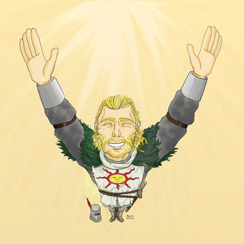PRAISE THE SUN - Dark Souls (No Text) by RorikSavant