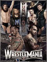 WrestleMania 3 (2016) - Poster by ByDGX