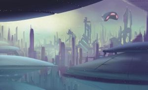 Digital_Painting Cityscape by Richtoon