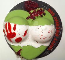 Zombie Bust Cake by Corpse-Queen
