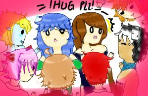 Q7 , 8 : Hug please! by Ask-The-Boys