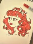 #7daysofcolor Day one, RED! by Poppysleaf