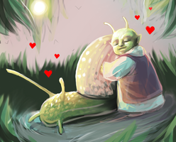 Snail Buddy Doodles by ConceptCat