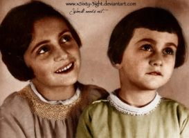 Margot and Anne Frank by xSixty-3ight