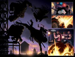 TURTLES: Dawn of the Ninja Ch.2 - TMNT Silhouette by RayDillon