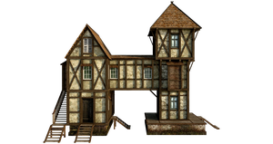 Medieval House 1 |PNG by fumar-porros