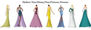 Modern Non-Disney/Non-Princess Dresses by Ellevira