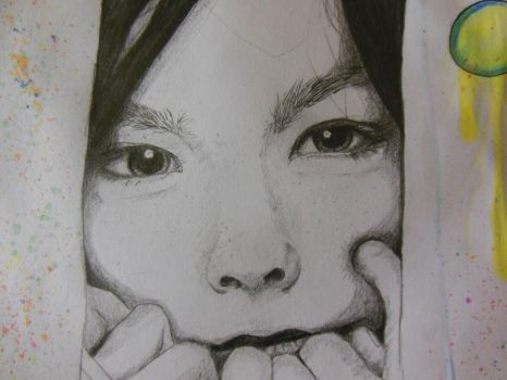 Finished Bjork drawing closer by DivinityParasite