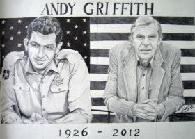 Andy Griffith Dedication Portrait by M-Infernum