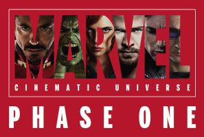 MARVEL Cinematic Universe Phase One Banner by ImWithStoopid13