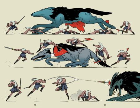 Head Lopper 2 Spread by Andrew-Ross-MacLean
