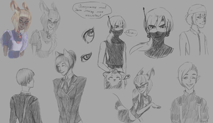 Sketches, moooore by Sata-midnight