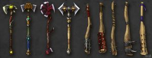Long axes and Clubs concepts by Guro