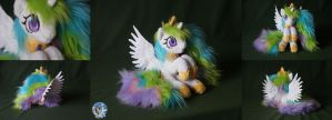 Tiny but fluffy princess Celestia by Essorille