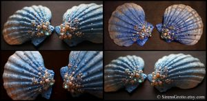 Custom Cyan Sea Shells by TheRealLittleMermaid