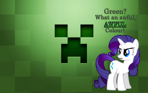 Rarity + Minecraft Creeper by BC-Programming