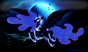 Nightmare Moon (Nightmare Night) by MLR19