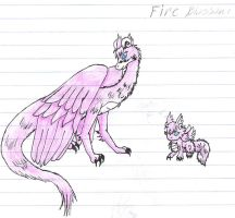 Fire Blossom the pink dragon. by SoniaBane