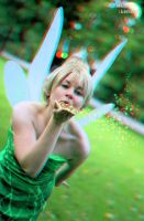 Tinkerbell 3D. with sparkles. by Nert