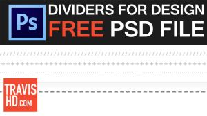 Free Dividers Photoshop File by ShindaTravis