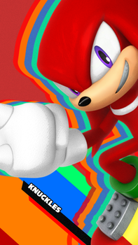 Knuckles Mania Style Phone Wallpaper by CosmicBlaster97
