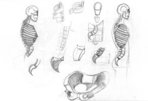 Human Figure Studies - Chest and Spine by CiNiTriQs