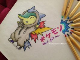 Cyndaquil - Pokemon by Farah-Suli