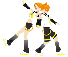 .: DL Series :. Ki Kagamines Twins by Duekko