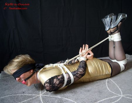 Scylla : Hogtied, Ballgagged, blindfolded. by PhMBond