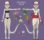 Alice ref sheet by Siinys