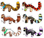 CLOSED - Red Pandas Adoptables 369 by LeaAdoptables
