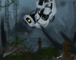 GLaDOS lives by DeviantDolphinART