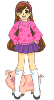 Mabel and Waddles by Sailor-Serenity