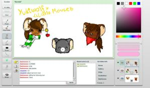 iScribble with Riceballkat by iFailAtEverything