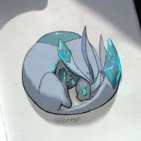 Glaceon by Lailamon