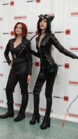 Black Widow and Catwoman at Anime Expo (AX) 2012 by trivto