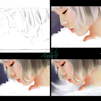 [PAINTING] Taeyeon - Single Rain by TieuVo