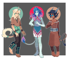 Adopts 53-55 [Auction- Closed] by sandflake-adoptables