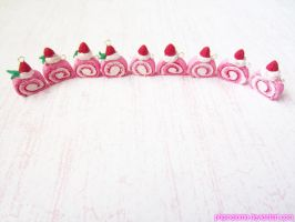 Strawberry Swiss Roll Charms! by kpossibles