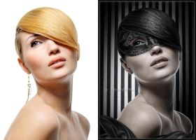 Girl in mask_before and after by ValentinaMayMus
