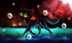 Cat painting by Liara-Chan