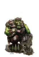 warhammer ork at rest by PabelBilly