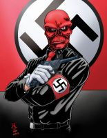 Red Skull by J.R. Leal by Luzproco