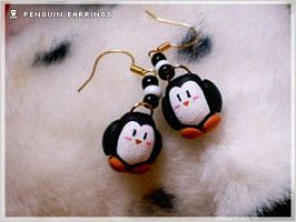 DIY Gangster Penguin Earrings by numb-existence