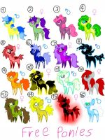 FREE MLP Adoptables .:SOLD OUT:. by ShinySmeargle